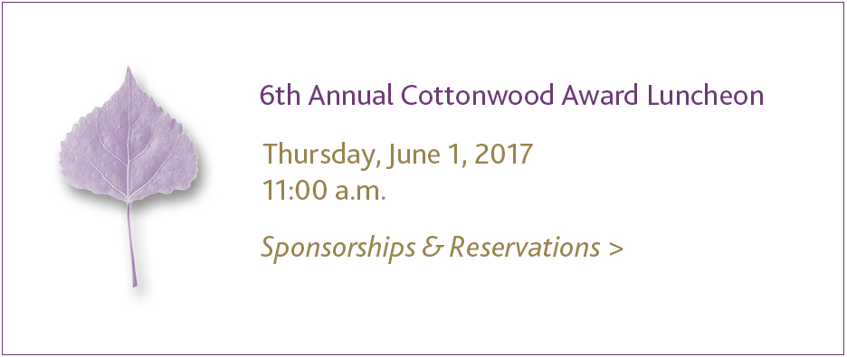 2017 Cottonwood Award Luncheon
