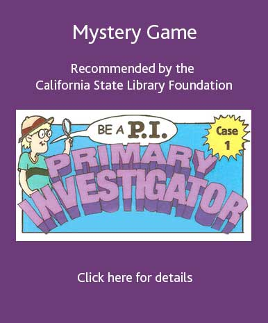 Mystery Game recommended by the California State Library Founcation